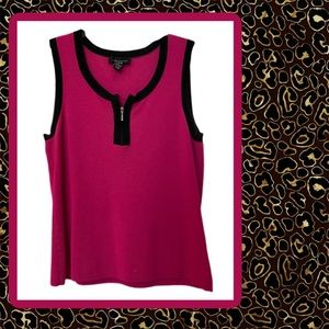 Cable and Gauge - Pink & Black Sleeveless Top